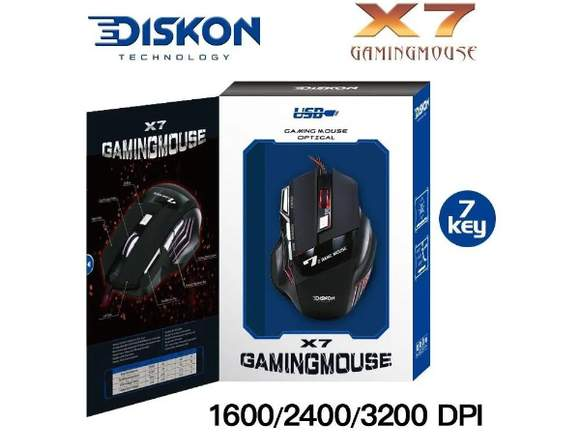 Mouse Gamer Diskon Usb 7 Botones X7