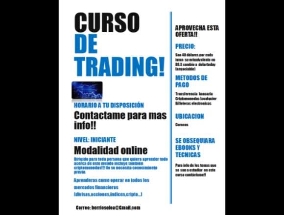 curso de trading nueva forma de generar ingresos!