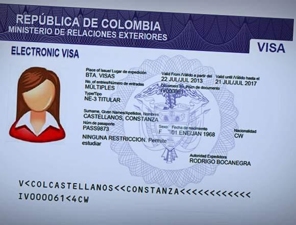 Asesoría de visa americana/colombiana/schengen