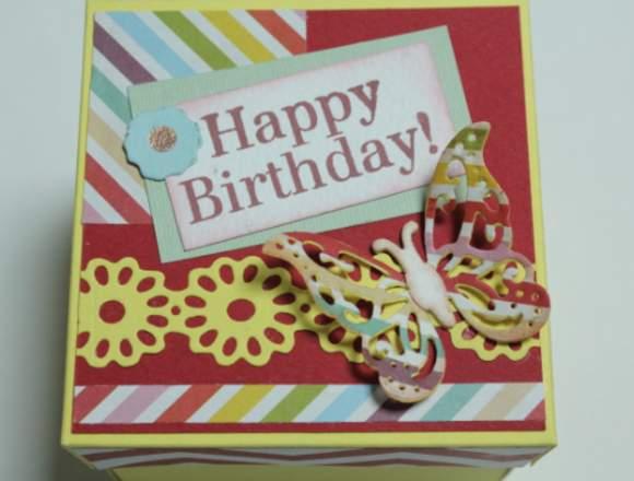 cajitas de regalo hecho en SCRAPBOOK