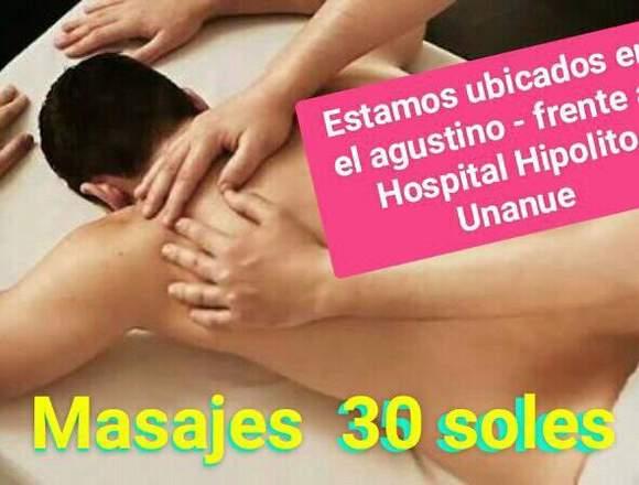 masajes y terapia fisica a solo 30 soles