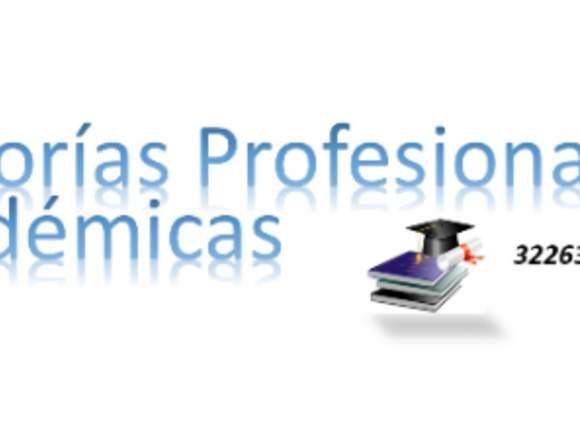 Asesorías profesionales y académicas