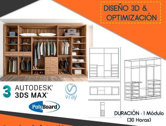 Curso Modelado de Muebles de Melamina en 3D