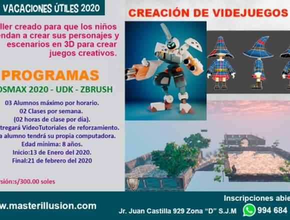Vacaciones Utiles 2020:VideoJuegos 3D y Origami 3D