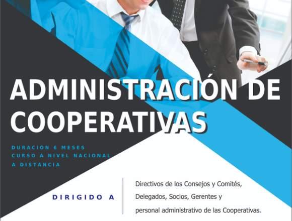 CURSO DE ADMINISTRACIÓN DE COOPERATIVAS