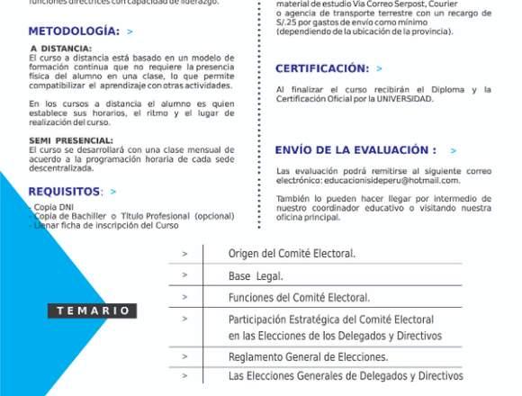 CURSO DE PROCESO ELECTORAL COOPERATIVO