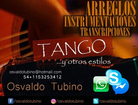 Arreglos/Transcripciones de Tango y otros estilos