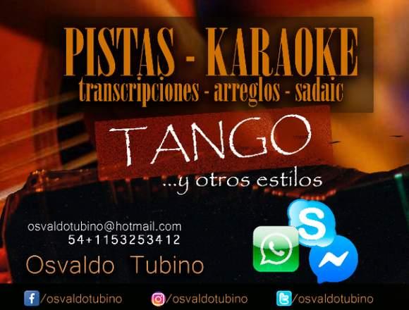 PISTAS/KARAOKE DE TANGO Y OTROS ESTILOS