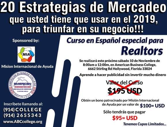 CURSO ESPECIAL PARA REALTORS EN ESPAÑOL, FLORIDA