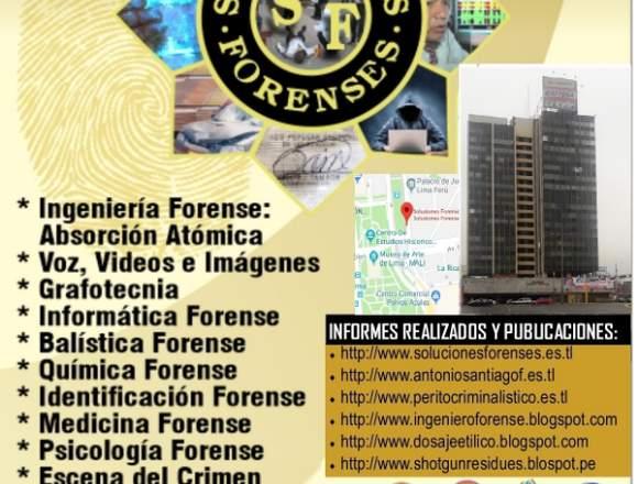 PERITAJES FORENSES -ASESOR PROCEDIMIENTOS FORENSES