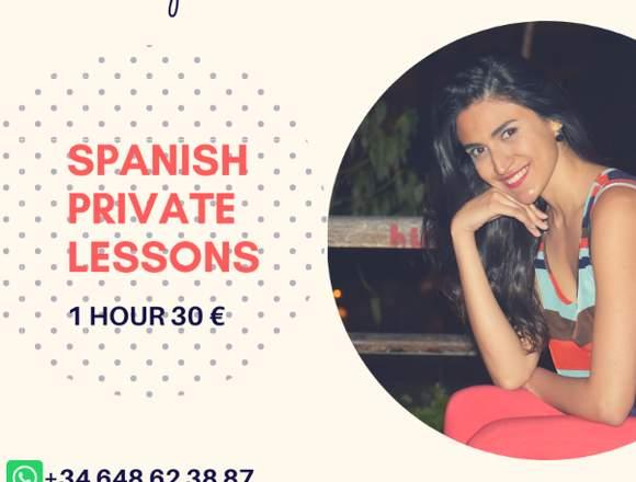 Spanish lessons / Clases de español