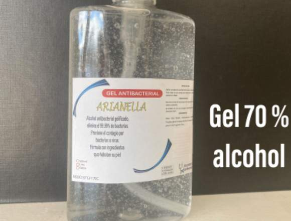 Gel antibacterial 70%alcohol