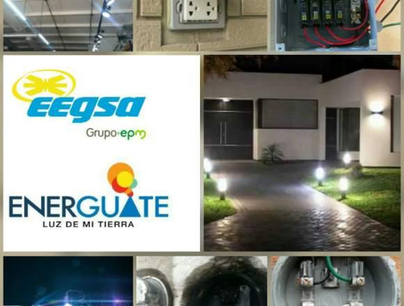 Servicios eléctricos de todo tipo.