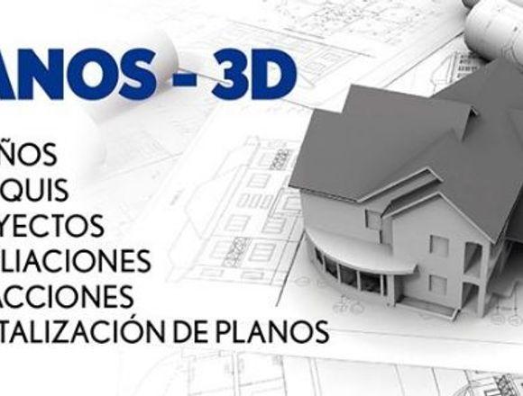 Dibujo de planos 2D y 3D. en Revit y Autocad