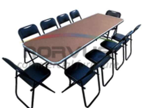 Paquete de mesas y sillas economicas banqueteras