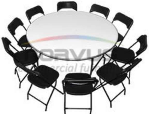 Mesas y sillas para eventos de gala en jardin