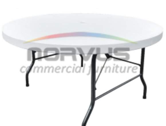 Mesas banqueteras de superficie plastico redonda