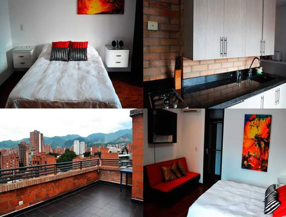 Furnished Apartments for Rent in Medellín Code 565