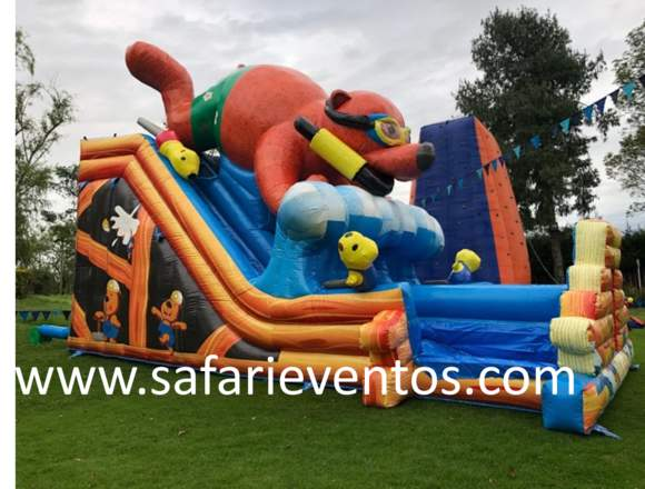 inflables saltarines, Safari Eventos.