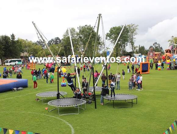 inflables saltarines, Safari Eventos.