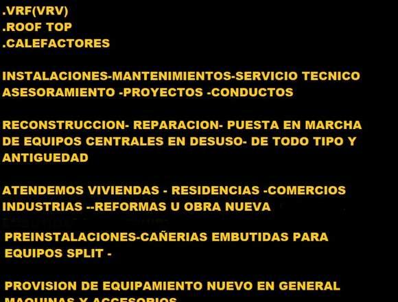 AIRE ACONDICIONADO - INSTALACIONES – SERVICE