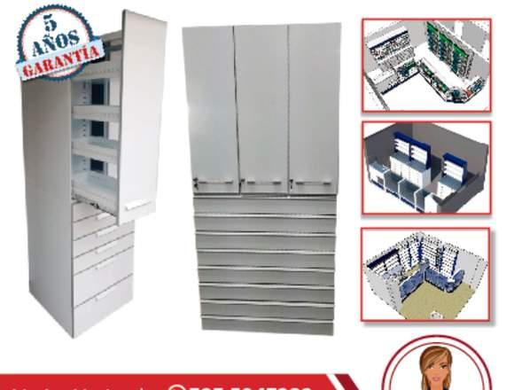 Muebles para medicamentos de farmacia