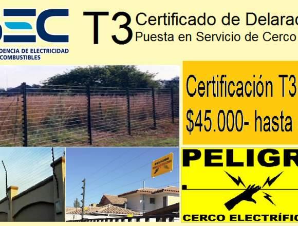 eléctrico autorizado SEC