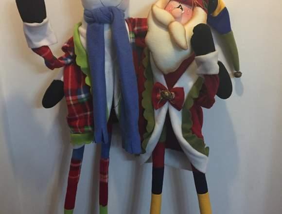 Muñecos navideños de 1.30 de alto