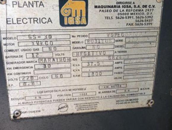 PLANTA DE LUZ IGSA 30 KW DIESEL