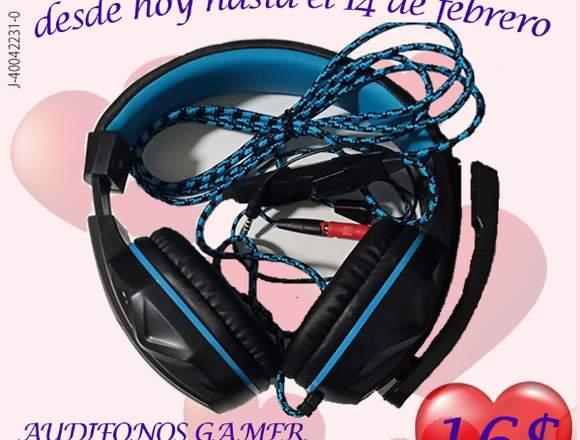 AUDIFONOS PARA GAMER XBOX, PLAY 4 PC, LAPTOP, CELU