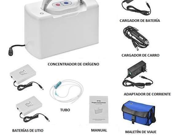 Concentrador de oxígeno portátil 3L Tel 3176199023