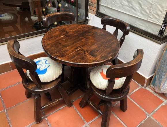 Mesas Y Sillas En Madera Muebles Restaurante