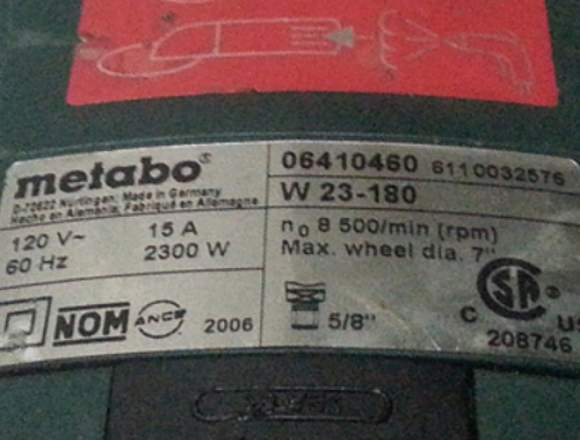 Esmeril Metabo 7 W 23-180-8500/min (rpm)