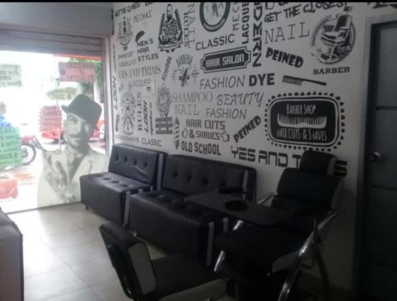 se vende barbershop y peluqueria unisex