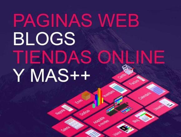Paginas Web, Blog, Tienda Online, Sitio Web