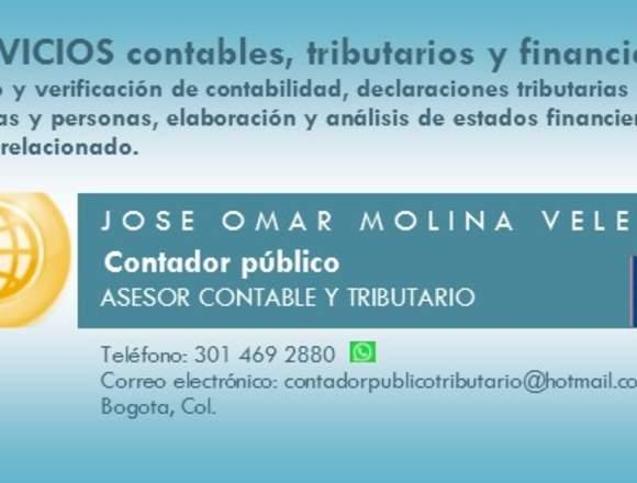 CONTADOR PUBLICO, SERVICIOS CONTABLES.