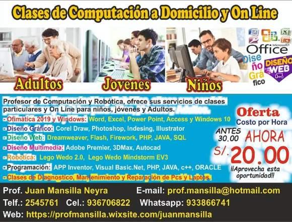 CLASES DE COMPUTACION PARA NIÑOS JOVENES Y ADULTOS