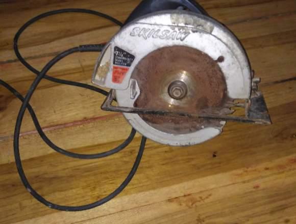 Sierra circular cortadora de madera