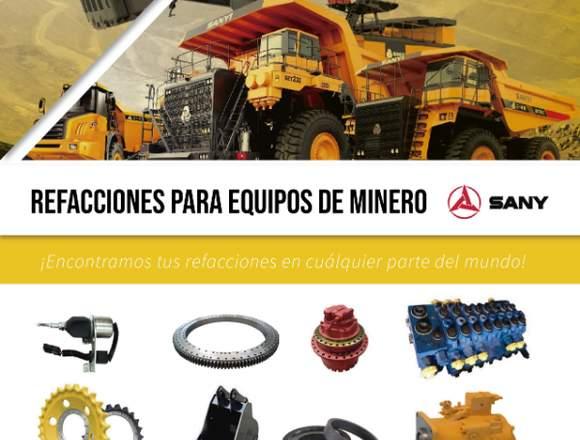 REFACCIONES PARA EQUIPOS DE MINERO SANY
