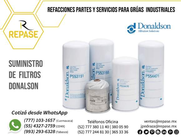 SUMINISTRO DE FILTROS DONALDSON
