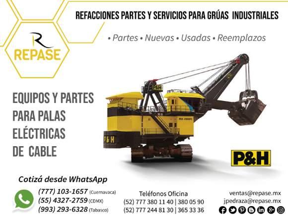 PARTES PARA PALAS ELÉCTRICAS DE CABLE