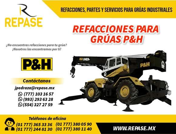 REFACCIONES Y REPUESTOS PARA GRÚAS P&H