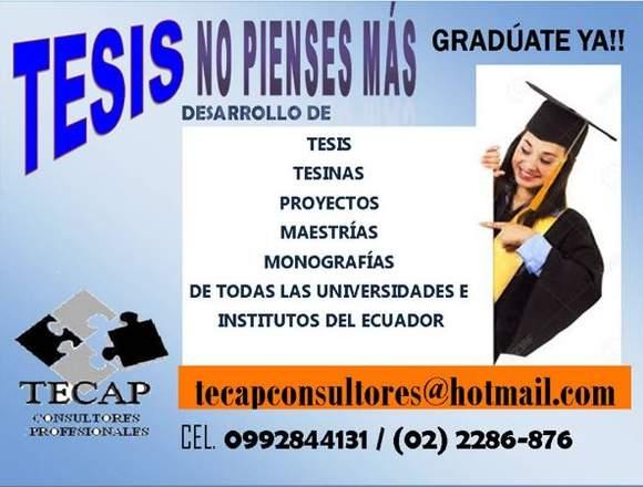 TESIS  DESARROLLAMOS TU TESIS  0992844131 QUITO