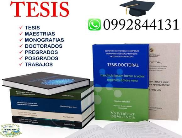TESIS, DE GRADO, TE ASESORAMOS Y DESARROLLAMOS