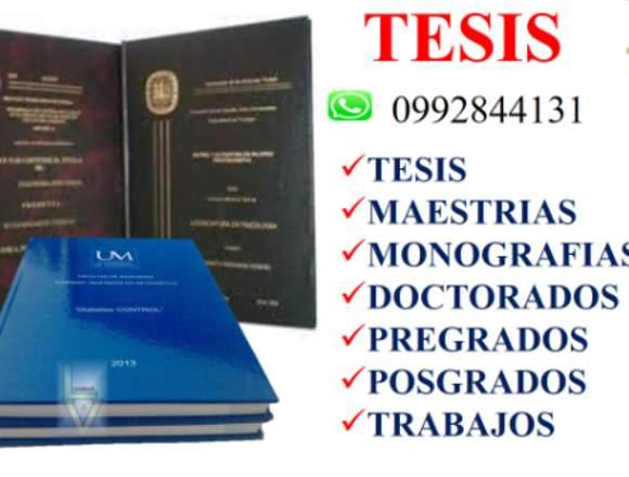 ASESORÍA  Y DESARROLLO COMPLETO DE TU TESIS