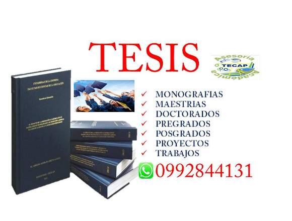 TESIS ASESORAMOS Y DESARROLLAMOS TESIS TRABAJOS