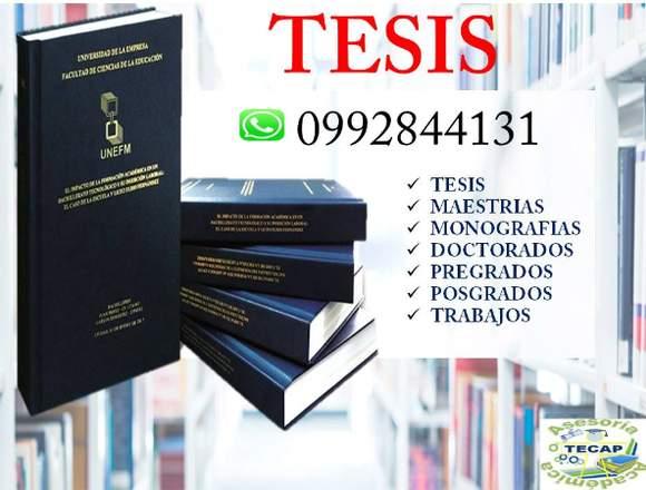 TESIS ASESORAMOS Y DESARROLLAMOS TESIS, TRABAJOS