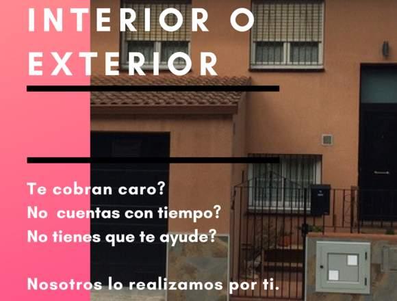 PINTAMOS TU CASA INTERIOR O EXTERIOR...