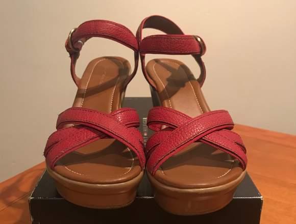 Sandalias con plataforma Tommy Hilfiger de piel