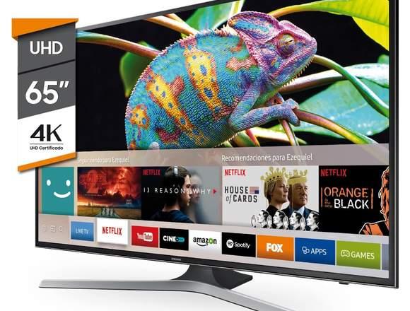 "TELEVISOR SAMSUNG 65"" UHD 4K SMART TV COMANDO VOZ"